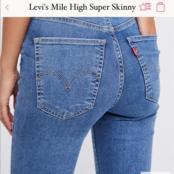 97f0f52a Levi's Jeans | Nwt Levis Mile High Super Skinny Castaway | Poshmark